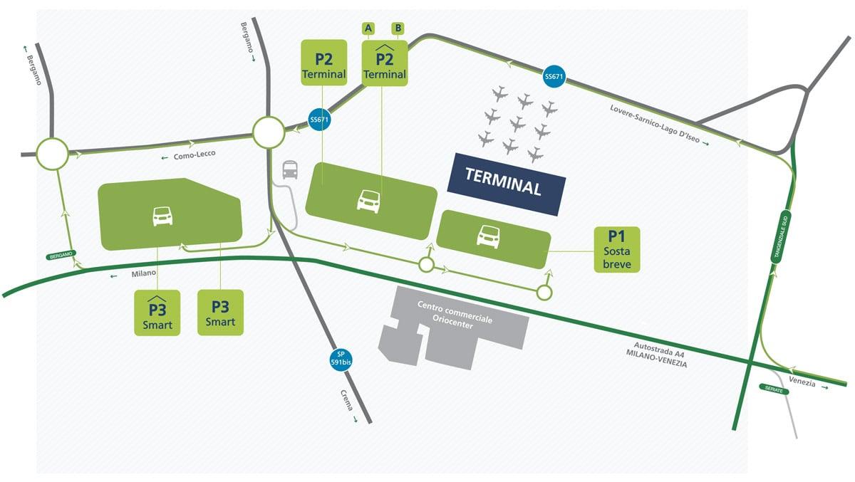 Aeroporto Zurigo Partenze : Parcheggio all aeroporto di bergamo orio al serio parcheggi low