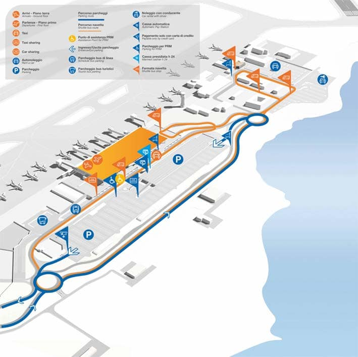 terminal dell'aeroporto di palermo, i servizi disponibili